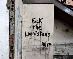Love, Arya. #GameOfThrones