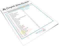 Labor Bag Checklist