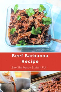 Beef Barbacoa - Making shredded beef to add in tacos, burritos, nachos, salads...is so easy with this Beef Barbacoa Recipe! Make Beef Barbacoa in the Instant Pot and use the Mexican shredded beef in your favorite dishes. This is tender, flavorful and prep is super easy! Grab tips and the Beef Barbacoa Recipe at DearCreatives.com #beefbarbacoa #beefbarbacoarecipe #beefbarbacoainstantpot #instantpotrecipe #instantpotrecipes #shreddedbeef #shreddedbeefrecipe #Mexicanshreddedbeef #dearcreatives Beef Barbacoa, Barbacoa Recipe, Mexican Shredded Beef, Beef Chuck Roast, Homemade Sauce, Nachos, Burritos, Beef Recipes, Instant Pot