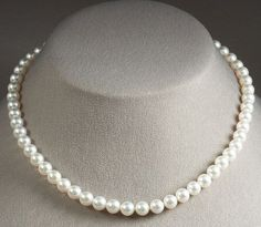 White Freshwater Pearl Necklace,LUX Pearl Necklace 9-10mm,real pearl… …