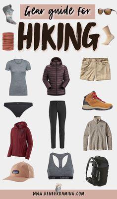 Cute Hiking Outfit, Summer Hiking Outfit, Summer Outfits, Outfit Winter, Mountain Hiking Outfit, Hiking Accessories, Hiking Essentials, Winter Hiking, Winter Camping Gear