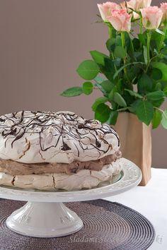 Tort bezowy z kremem czekoladowym / Meringue cake with chocolate cream RECIPE