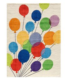 Look at this #zulilyfind! Balloon Rug #zulilyfinds @Aubrey Bloom  playroom idea, love!