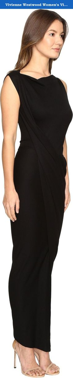 Vivienne Westwood Women's Vian Dress Black Dress. Vivienne Westwood Women's Apparel Size Guide Wrap your style in the beauty of the Vivienne Westwood® Vian Dress. Boat neckline. Sleeveless. Fitted waist. Wrapped design. Side vent. Pull-on construction. Asymmetrical hemline. 68% viscose, 28% polyamide, 4% elastane. Professional dry clean only. Made in Italy. This item may ship with an attached security tag. Merchandise returned without the original security tag attached or a damaged tag…