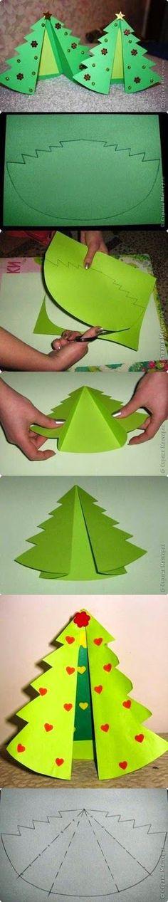 Passo a Passo de Árvore de Natal feita em Papel