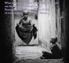 Perception or reality? http://DovBaron.com