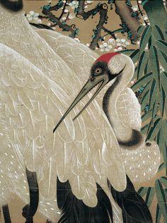 (Japan) Cranes by Ito Jakuchu Korean Art, Japanese Patterns, Japanese Painting, Japan Art, Japanese Artists, Bird Art, Chinese Art, Beautiful Birds, Art Forms