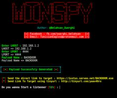 KitPloit - PenTest Tools for your Security Arsenal ☣: WinSpy - A Windows Reverse Shell Backdoor Creator With An Automatic IP Poisener Best Hacking Tools, Learn Hacking, Hacking Websites, Learn Computer Coding, Computer Programming, Computer Science, Computer Tips, Android Technology, Tecnologia
