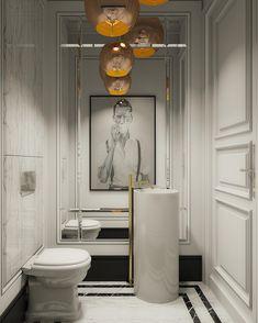 "1,299 Likes, 44 Comments - Aha Majewska (@homestory_ahamajewska) on Instagram: ""My project of bathroom in Warsaw apartament. Artwork by Polish artist @lukasz_bilinski_art…"""
