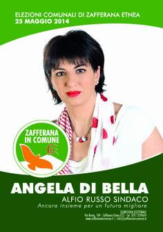I nostri Candidati: Angela Di Bella #ZafferanainComune #AlfioRussoSindaco