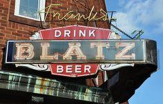 "Blatz Beer - brewed in Milwaukee  www.LiquorList.com  ""The Marketplace for Adults with Taste"" @LiquorListcom   #LiquorList"