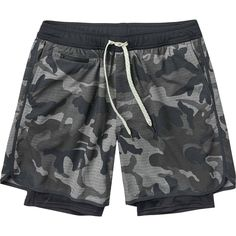 Camouflage Fallen Maple Leaves Mens Beach Shorts Lightweight Athletic Shorts with 3 Pockets