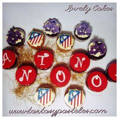 Cupcakes Atlético de Madrid Cupcakes, How To Make Cake, Madrid, Baking, Creative, Party, Wedding, Ideas, Bread Making
