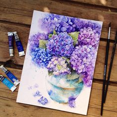 In her exquisite watercolors, artist Elena Moroz celebrates the gentle vibrancy of flowers. Her painted daisies, peonies, and irises are vivid but mellow,