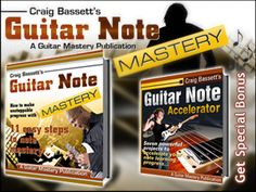 """Guitar Note Mastery. Attention Guitarists! Professional guitarist, guitar tutor and author reveals hard-earned secrets... """"Forget about using useless note learning methods that don't work and improve your guitar playing by learning to find any note on your guitar INSTANTLY…with eleven easy and simple steps to Guitar Note Mastery"""""""