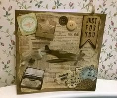 Vintage style card. Good for using up your scraps.