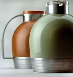 Streamlining found new uses for traditional products. Here, a thermos pitcher, 1935,