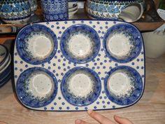 Polish Handmade Bunzlau Castle Cupcake Tray