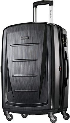 Samsonite Winfield 2 Hardside Expandable Luggage with Spinner Wheels, Brushed Anthracite, Checked-Large Suitcase Price, Carry On Suitcase, Carry On Luggage, Travel Luggage, Samsonite Luggage, Hardside Luggage, Luggage Brands, Luggage Sets, Umbrella Stroller