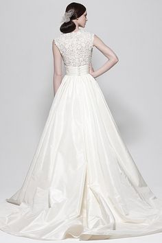 Ivory Silk Taffeta gown by Watters Brides.   Very nice and very intricate.