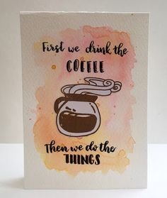 InvisiblePinkCards: Handmade brush lettering card using STAMPlorations stamps