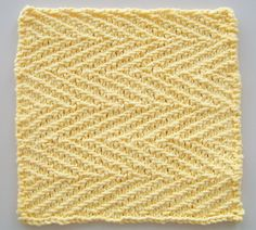 Ravelry: Kitchen Dishcloth ~ Herringbone Linen pattern by Joan Laws