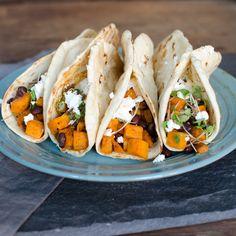Smoky Sweet Potato Black Bean Tacos