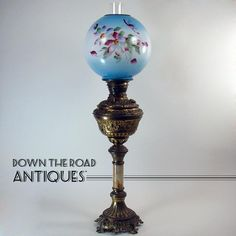 Tall Kerosene Banquet Lamp - 100% Original - 1880's Victorian