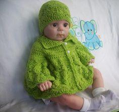 15 Free Baby Sweater Crochet Patterns: Butterfly Crochet Baby Sweater Free Pattern