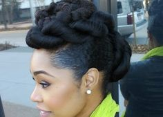 Natural Hair Protective Hairstyle Twist'n'Bun with Tiffany Nichols Design