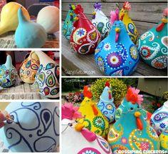Painted Chicken Gourds A Super Cute Craft