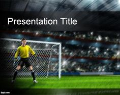 If you are looking for free Soccer PowerPoint themes for your sport presentations then this background with goalkeeper is a good choice as a free soccer background for PowerPoint presentations