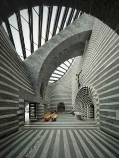 CHURCH OF ST. JOHN THE BAPTIST, LAVIZZARA, SWITZERLAND by Architect Mario Botta