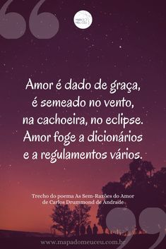 Clique no link para mais poemas e frases de Carlos Drummond de Andrade! #poemas #poemasdeamor #frasesamor #poemasemportuguês #poemasapaixonados #poemascurtos #poesia #amor #frases #poemabrasileiro #carlosdrummonddeandrade #drummond Link, Movie Posters, Poetry Quotes, Best Love Lines, Short Poems, Poems Of Love, Film Poster, Popcorn Posters, Film Posters