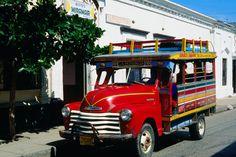 Chiva, traditional Colombian bus - Santa Marta, Magdalena