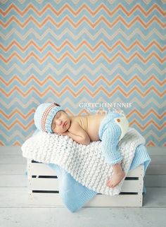 Newborn flap-bottom pants AND coordinating hat SET in by tinab76