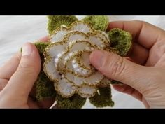 Brooch, Crochet, Floral, Flowers, Jewelry, Youtube, Ribbons, Ganchillo, Tejidos