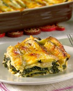 Spinach Lasagna Recipe...one for our vegetarian neighbors...