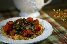 Tender chunks of beef and vegetables braised in beer topped with a fresh lemon gremlota is my idea of healthy, comfort food. Do I want to drink some wine or beer? That is how I decided what braisin...