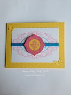 something about stamping, Stampin' Up, Layered Labels, Beautiful Wings, Daffodil Delight, Tempting Turquoise, Pretty in Pink