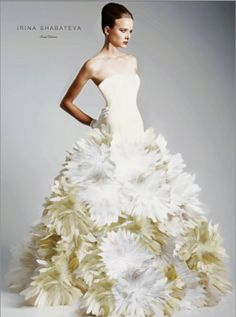 Irina Shabayeva Couture Dropped Waist Feather by IRINASHABAYEVA