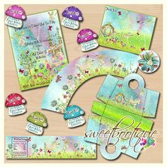 Unicorns & Fairies High Tea Party Set - DIY - Digital File - Printable - Customised - INSTANT DOWNLOAD