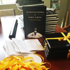 Prepping for a big mailing of Isabel Greenberg's The Encyclopedia of Early Earth! In stores November 5th.