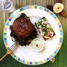 """Enjoying Amaranth Greens With A Green Veggie """"Sloppy Joe"""" For A Spring Meatless Monday Plate (@ www.morningberries.com)"""