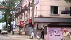 Народ Мариуполя захватил БМП Киевской хунты 09052014 Эксклюзив