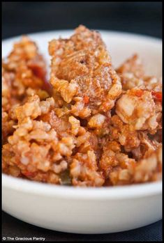 Clean Eating Jambalaya (Click Pic for Recipe) I completely swear by CLEAN eating!!  To INSANITY and back....  One Girls Journey to Fitness, Health, & Self Discovery.... http://mmorris.webs.com/