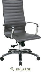 OSP Furniture High Back Grey Eco Leather Chair - Office Star 74602LT