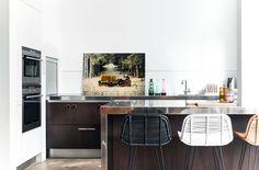 HKliving industrieel vintage Scandinavisch kleur decoratie woonaccessoires woonkamer interieur wit zwart hout keuken stoelen