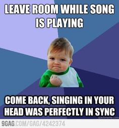 Singing it out loud in sync is even more awesome.