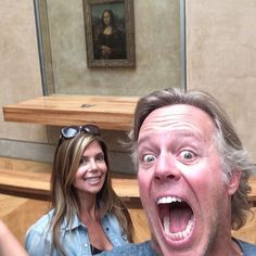 Going through old photos today, I found this one. The Mona Lisa photobombing Amie and I. #FlippingVegas #TBT‬ #ScottYancey